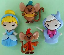 CINDERELLA - Disney Fairy Godmother Jaq Gus Mice Dress It Up Craft Buttons