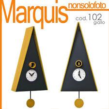 "orologio a cucù art.102 ""Norimberga""nero/giallo Pirondini Italia Time Marquis"