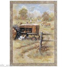 Country Farm Tractor HEAT PRESS TRANSFER for T Shirt Sweatshirt Tote Fabric #750