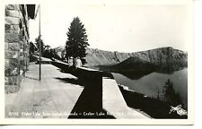 Crater Lake-Lodge Veranda-National Park-Oregon-RPPC-Vintage Real Photo Postcard