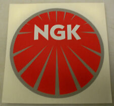 NGK SPARK PLUGS PRINTED DECAL STICKER