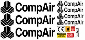 COMPAIR COMPRESSOR DECALS STICKERS