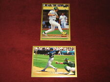 Lot of Two 1999 Topps Oversize Baseball cards