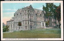 CHAMBERSBURG PA Wilson College Thompson Music Hall Vintage Postcard Pennsylvania