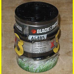 3 Stück 10 m x 1,5 mm Fadenspulen Black & Decker A6485 für GL280 - GL301 + + +