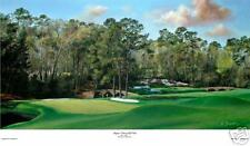 Augusta National Golf Club  Amen 11 and 12  Giclee on canvas  limited ed. 16x31
