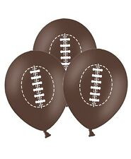 """Rugby Ball - 12"""" Printed Brown Latex Balloons pack of 5 for Special Sport Fans"""