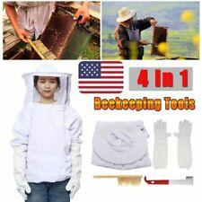 Beekeeper Clothing Suit Bee Honey Keeping Equipment Gloves Bee Hive Brush J Hook