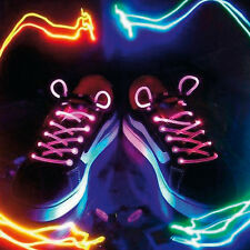 Pink Shoelaces LED Flash Flashing Disco Party Fun Glow Laces Shoes