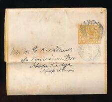 AUSTRALIA VICTORIA STATIONERY WRAPPER to HOPETOUN 1898