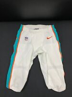 #81 MIAMI DOLPHINS NIKE GAME USED WHITE PANTS 2019/2020 SEASON WITH DRAWSTRING