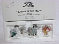 Dept 56 Heritage Village Playing In the Snow - 55565