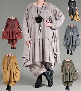 ♦ 6 Farben AKH Wohlfühl-Volant-Kleid EG 44,46,48,50,52,54,56,58,60,62,64 ♦