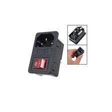 2x(Inlet  Netzanschluss mit Sicherung Schalter 10 A 250 V 3 Pin IEC320 C14 GY