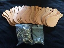 Leather Key Fob Kit 150 Pack 5/6 Oz