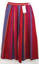 Rafaella Women's Skirt Size 6 Indian Gypsy Woven Striped Multi Made in Italy