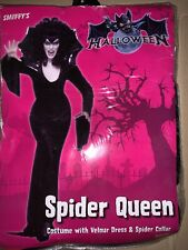 Halloween Ladies spider queen costume Size 16-18