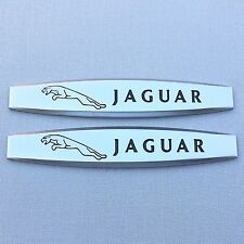 NEW (2pc) JAGUAR LOGO FENDER DOOR METAL EMBLEM NAMEPLATE BADGE EM128