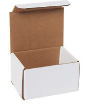 """5 Pack 5x4x3 White Corrugated Shipping Mailer Packing Box Boxes 5"""" x 4"""" x 3"""""""