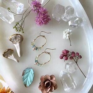 Sapphire 14K Gold Filled Handmade Sundance Garden Earrings