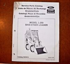 New Holland L-250 Skid-Steer Service Parts Catalog Manual 5025012 Aug '89