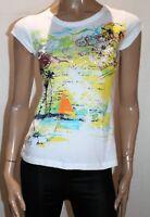 FILO Brand White Printed Short Sleeve Tee Size S BNWT #TF27