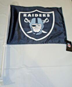 NFL Oakland Raiders Logo on Black Window Car Flag by Fremont Die