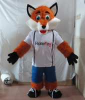 Adult Deluxe Sports Style Fox Christmas Mascot Costume Party Fancy Dress Parade