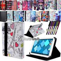 "For Various 7"" 8"" 10"" Alcatel Tablet - Smart Stand Leather Cover Case + Stylus"