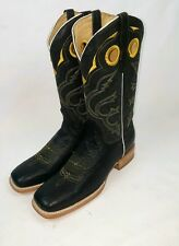 MEN'S COWBOY WESTERN EXOTIC BOOTS OSTRICH SKIN SQUARE TOE RODEO BROWN 8