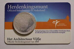 NETHERLANDS 5 EURO 2008 ARCHITECTUUR COIN CARD B34 #85