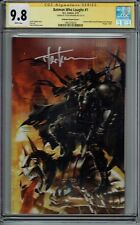 CGC SS 9.8 BATMAN WHO LAUGHS #1 KIRKHAM VIRGIN VARIANT SIGNED BY TYLER KIRKHAM