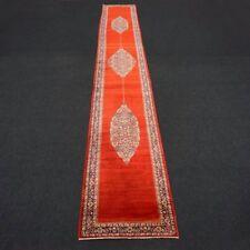 Orient Teppich Läufer 723 x 108 cm Perserteppich Handgeknüpft Rot Red Rug Runner