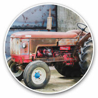 2 x Vinyl Stickers 10cm - Red Vintage Tractor Farming Agriculture Farm Cool Gift