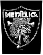 Metallica Raiders Skull giant sew-on backpatch   360mm x 300mm  (ro)