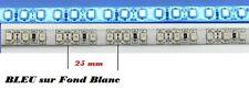 1 bande 30cm Led BLEU sur fond BLANC ==> tuning / modélisme