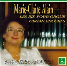 MARIE-CLAIRE ALAIN - Organ Encores (CD, 1994, Erato (BMG)) Bach, Brahms, Franck