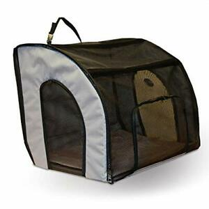 K&H Pet Products Travel Safety Carrier for Pets Gray/Black Medium 24 X 19 X 1...