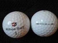 "20 WILSON STAFF  ""DX3.U"" - ""URETHANE"" - Golf Balls - ""A MINUS / B PLUS"" Grades."