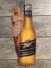 Mgd Miller Genuine Draft Vintage Promo Advertising Thin Cardboard Display 18�x7�