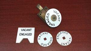 Assortment of VINTAGE TOILET LAVATORY W.C. DOOR HARDWARE including brass bolt