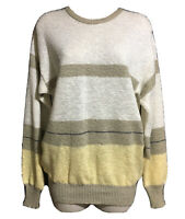 British VTG 90s ST MICHAEL Ladies Jumper Sweater Knit Colour Block Grunge UK 10