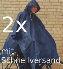 2x Regencape Regenponcho Regenjacke Regenschutz Regen Schutz Fahrrad blau unisex