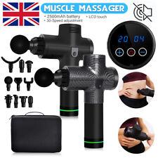 5/10 Heads LCD Massage Gun Deep Tissue Percussion Body Muscle Massager Phoenix