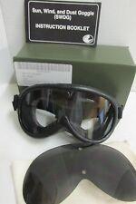 NOS US Military GI Sun Wind & Dust Goggles Eye Protection Ballistic Lens MSA