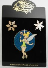 Disney Auctions ~ Tinker Bell Winter Snowflakes 2004 DA LE 3 Pin Set