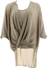 Lisa Rinna Collection Twist Front Top Camisole Lt Taupe M # A278424