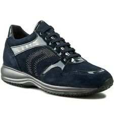 Geox D Happy B Navy Blue Suede Trainers - UK 6, EU 39