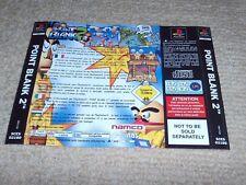 POINT BLANK 2 – Sony PS1 Rear art inlay