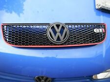 VW POLO 6N2 GTI COMPLETE FRONT GRILL WITH BADGE CONVERSION SE  TDI SDI 00-02 RED